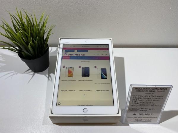 Apple iPad 9.7 (2017) 128GB WiFi ezüst tablet, megkímélt, dobozos, hibátlan működéssel - használt