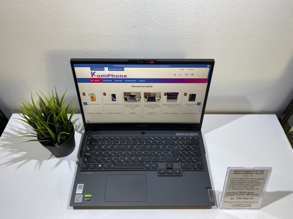 Lenovo Legion 5 - 144Hz/i5 10300H/16GB/512GB SSD/GTX 1660Ti 6GB/Win 10 - használt