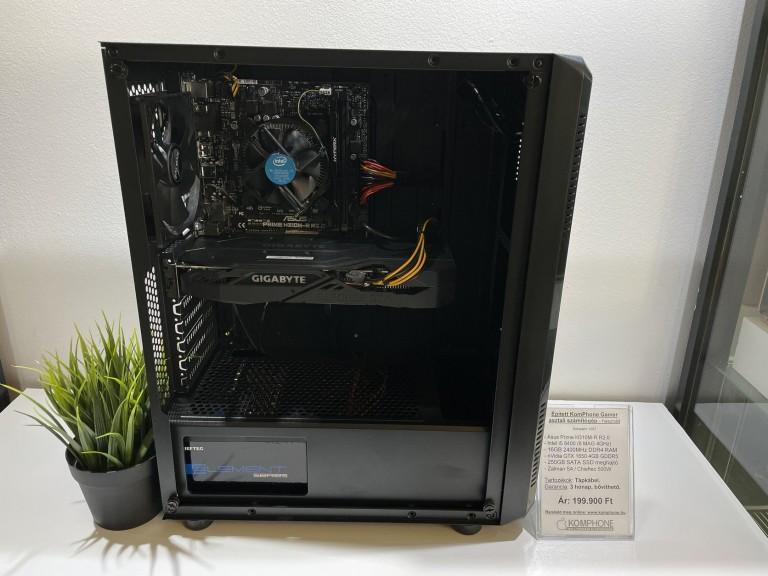 Épített Gamer! Asus H310M/i5 8400/16GB DDR4/GTX 1650 4GB/250GB SSD/Zalman S4/Chieftec 500W - használt