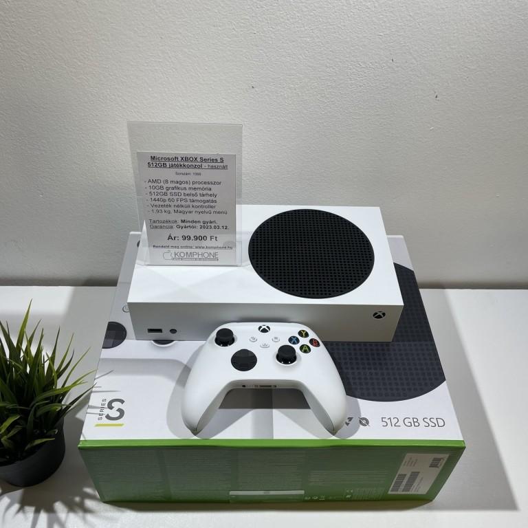 Microsoft Xbox Series S 512GB SSD játékkonzol, full doboz, csak kipróbált, újszerű állapotban - használt