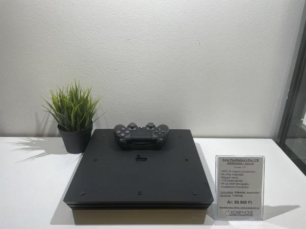 Sony PlayStation 4 Pro 1TB fekete ( PS4 Pro ), megkímélt, hibátlan állapotban! - használt
