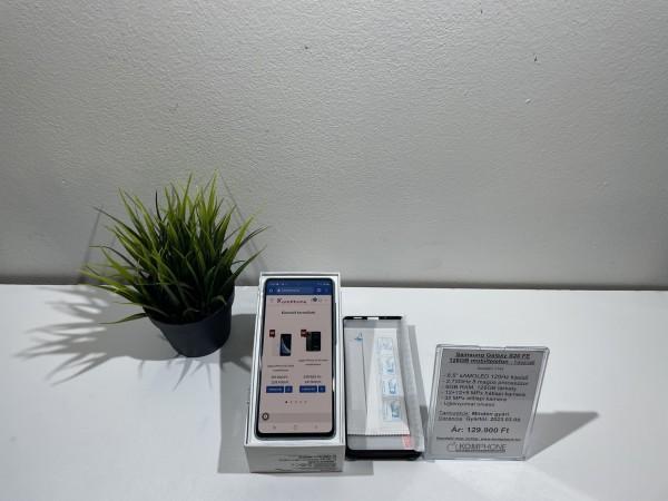 Samsung Galaxy S20 FE 128GB mobiltelefon, kártyafüggetlen, újszerű, gyártói garanciával! - használt