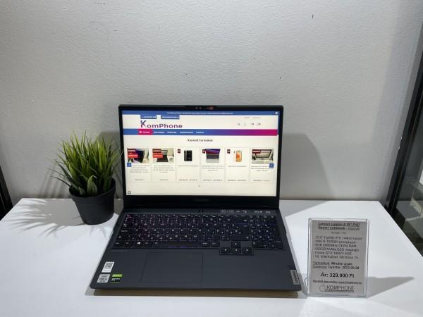 Lenovo Legion 5 Gamer notebook - 144Hz/i5 10300H/8GB/500GB NVMe SSD/GTX 1660Ti 6GB/Win 10 - használt