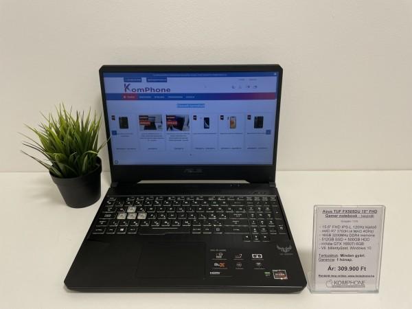 Asus TUF FX505DU Gamer - 120Hz/R7 3750H/16GB DDR4/512GB SSD/500GB HDD/GTX 1660Ti/Win 10 - használt