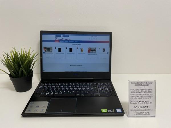 Dell G5 5590 Gamer - i7 8750H/16GB DDR4/128GB NVMe SSD/1TB HDD/RTX 2060 6GB/Win 10 - használt