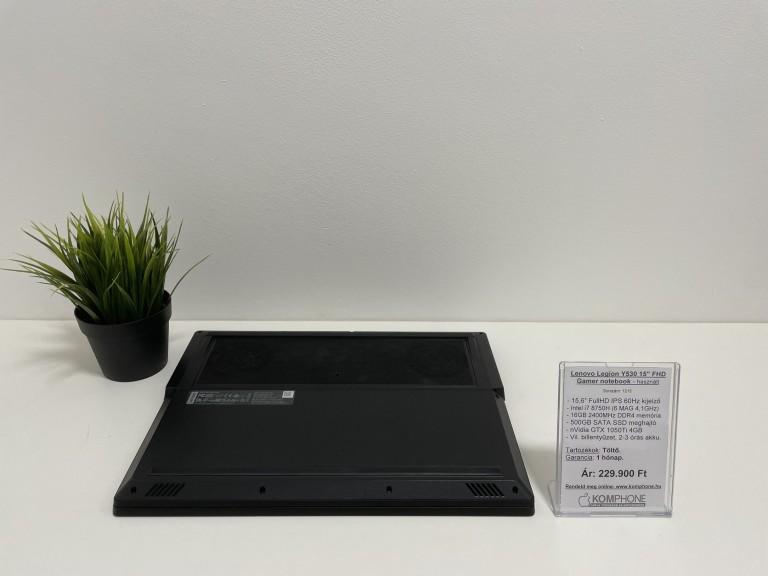 Lenovo Legion Y530 Gamer notebook - i7 8750H/16GB DDR4/500GB SSD/nVidia GTX 1050Ti 4GB - használt