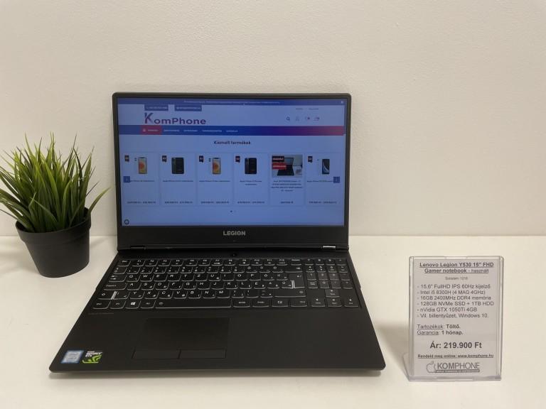 Lenovo Legion Y530 - i5 8300H/16GB DDR4/128GB NVMe SSD/1TB HDD/GTX 1050Ti 4GB/Win 10 - használt