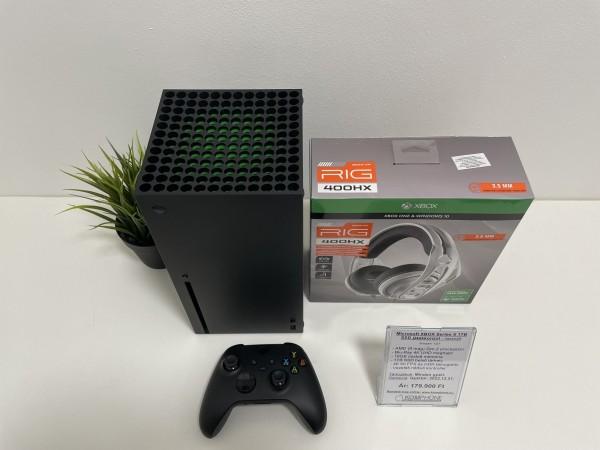 Microsoft XBOX Series X 1TB SSD játékkonzol, full doboz, ajándék fejhallgató - használt