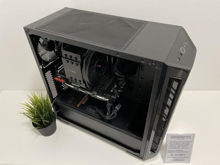 Épített GAMER! Asus B550-F/BQ Dark Rock 4/R5 3600X/16GB DDR4/GTX 1070/1TB NVMe SSD/CM MB520 RGB/650W - használt