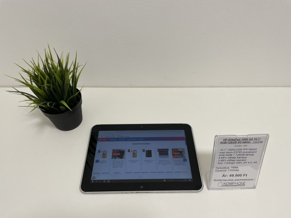 "HP ElitePad 1000 G2 10,1"" FHD+ 4GB RAM 128GB SSD 4G Windows tablet - használt"