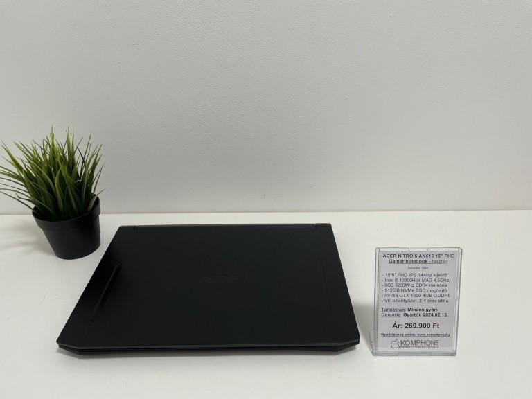 ACER NITRO 5 AN515 Gamer notebook - 144Hz/i5 10300H/8GB DDR4/512GB NVMe SSD/GTX 1650 4GB - használt