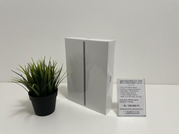 """Bontatlan Apple iPad 8 2020 10.2"""" 32GB WiFi + Cellular tablet, gyártói garanciával - használt"""