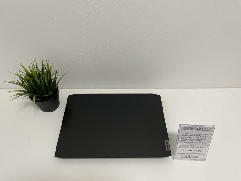 Lenovo IdeaPad Gaming 3 notebook - R5 4600H/8GB RAM/512GB SSD/GTX 1650Ti 4GB/újszerű - használt