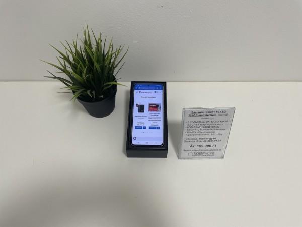 Samsung Galaxy S21 5G 128GB mobiltelefon, kártyafüggetlen, újszerű, gyártói garanciával! - használt