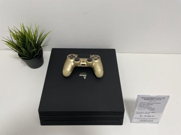 Sony PlayStation 4 Pro 1TB fekete ( PS4 Pro ), dobozában, megkímélt állapotban - használt