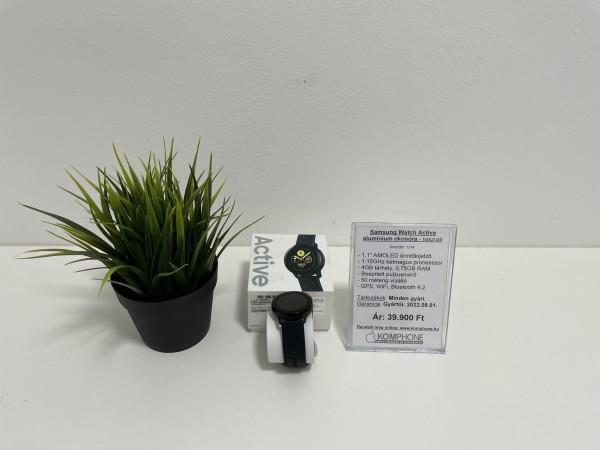 Samsung Watch Active alumínium házas fekete okosóra, dobozzal, gyártói garanciával, újszerű állapot - használt