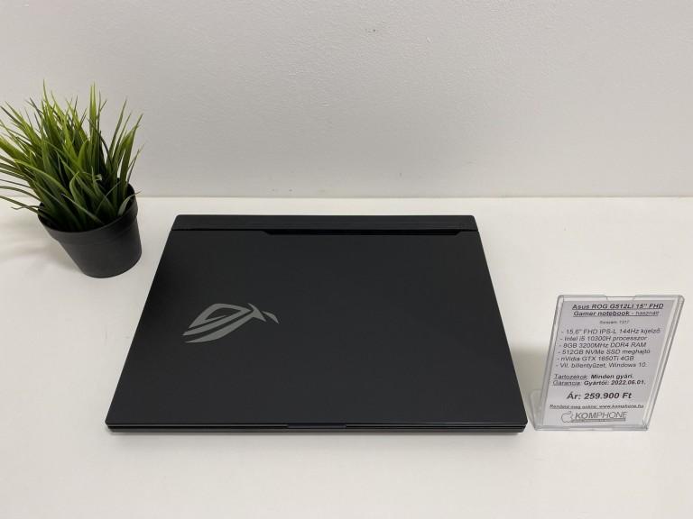 Asus ROG G512LI Gamer notebook - 144Hz/i5 10300H/8GB DDR4/512GB SSD/GTX 1650Ti/Win 10 - használt