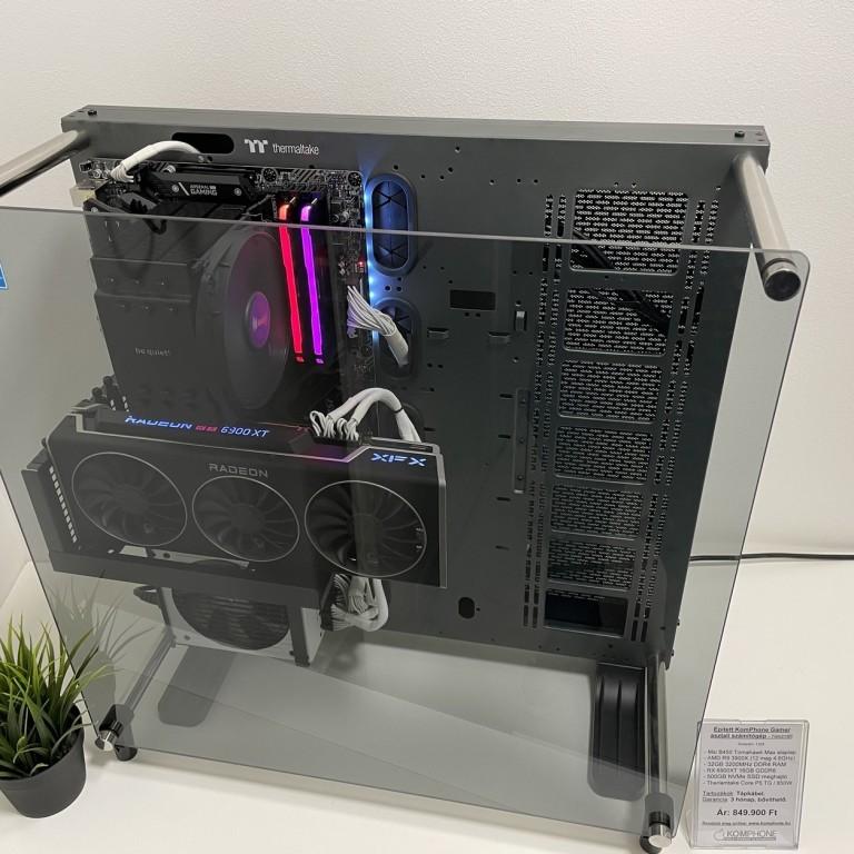 Épített Gamer! MSI B450/R9 3900X/32GB DDR4/500GB NVMe SSD/RX 6900XT 16GB/Therlamtake Core P5 TG/850W- használt